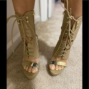 Lace up boot heels